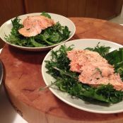 Lemon-Grilled Salmon with Dressed Kale
