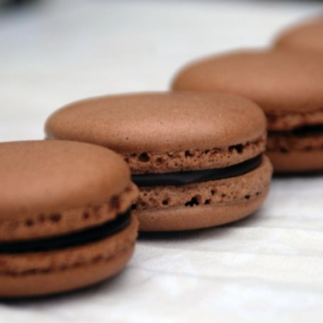 French Chocolate Macarons with Chocolate Ganache Recipe - (4.1/5)