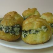 Mini Spinach/Artichoke Dip Cream Puffs (makes 36)