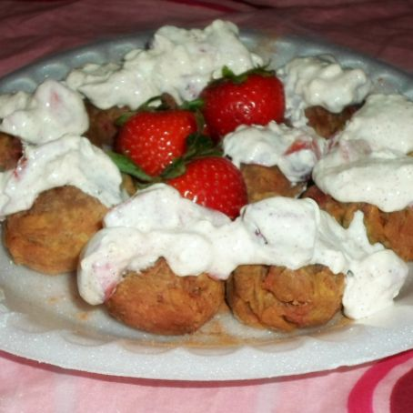 Strawberry Fritters
