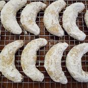 Walnut Crescent Cookies