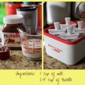 Nutella popsicles - Step 1