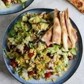 Chicken Taco Salad with Quesadilla Strips