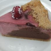 Rosy Raspberry Chocolate Cheesecake