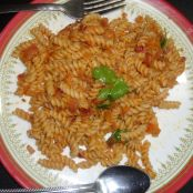 Pasta with India spices
