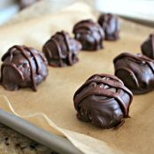 Surprise Dark Chocolate Peanut Butter Balls