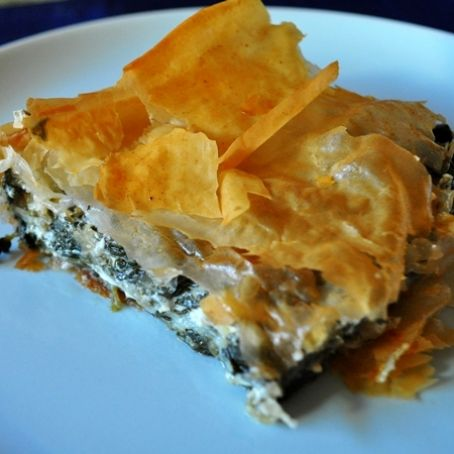 Spinach Pie with Feta - Spanakopita