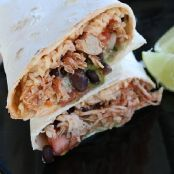 Crockpot Chicken Burritos