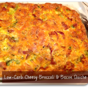 Low-Carb Cheesy Bacon & Broccoli Quiche