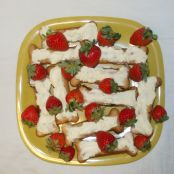 Strawberry Coconut Dog Biscuits