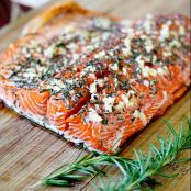 Rosemary and Garlic Roasted Salmon
