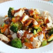 Spicy Hawaiian Teriyaki Chicken Rice Bowl