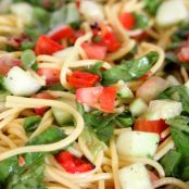 Gluten-Free Spaghetti and Spinach Salad