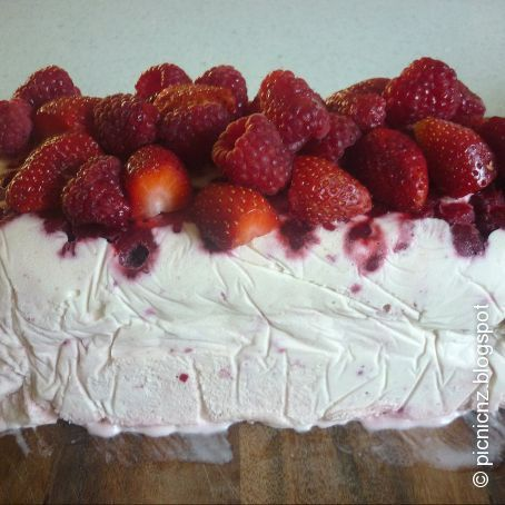 Strawberry and Raspberry Semifreddo
