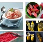 Strawberry Rhubarb Granita