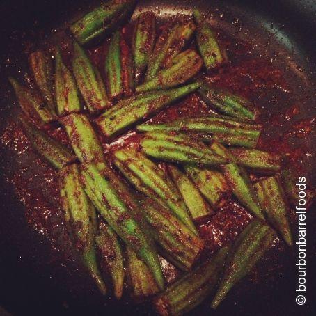 Spiced Okra Recipe - (2.9/5)