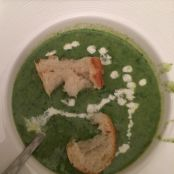Chicken Spinach and Pea Puree