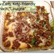 Low-Carb Spinach Lasagna