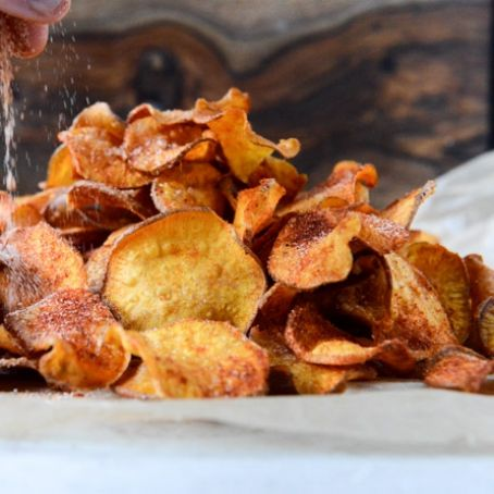 Homemade Potato bbq Chips