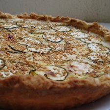Zucchini and blue cheese tart