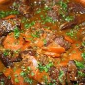 Spiced Beef cheeks with Carrots and Raisins