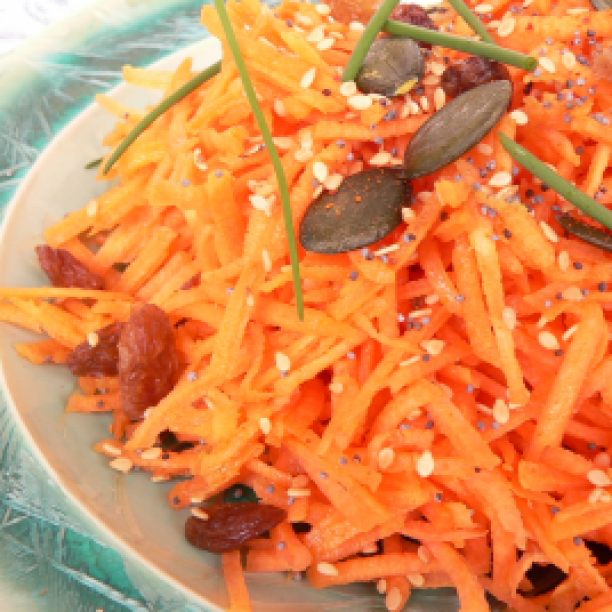 Shredded Carrots with Dried Fruit