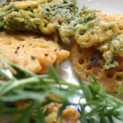 Fried carrot tops with chickpea flour batter