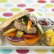 Veal Burger with Vegetables