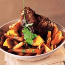 Braised Veal Heart with Carrots and Oranges