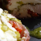 Terrine of chicken with pesto