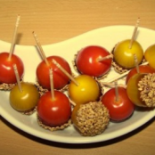 Cherry tomatoes and caramelized sesame seeds