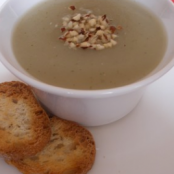 Jerusalem Artichoke Soup with Mint Croutons