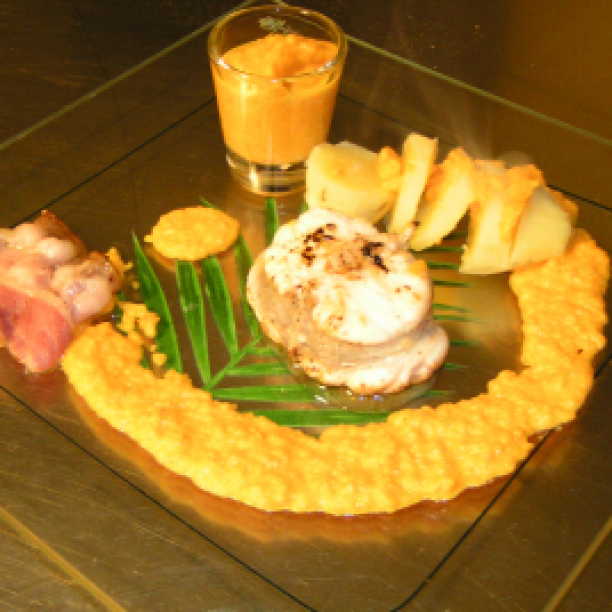 Monkfish with grapefruit