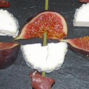Goat Cheese and Fig Skewers