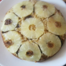 Pineapple and Chocolate Upside Down Cake