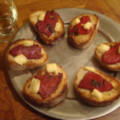piquillo peppers toasts