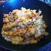 Stir-fried Endives, Potatoes and Bacon