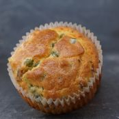 Bacon Shallot and Pea muffins
