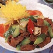 Sautéed Liver and Cucumber