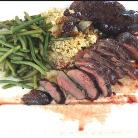 Duck breast with Raspberry marinade