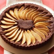 SPICED CHOCOLATE PEAR TART
