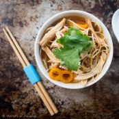 Thai Chicken Noodles with Red Curry Broth