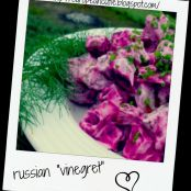 russian vinegret ( beet salad,my low fat version)