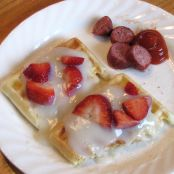Waffles With Creamy White Sauce