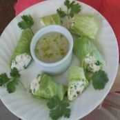 Creamy Crab Lettuce Wraps with Coconut-Lime Dip