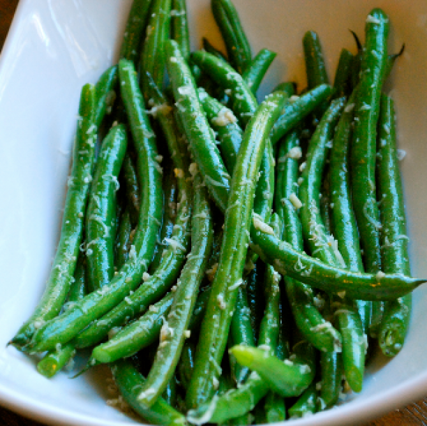 Cheesey Boiled Green Beans