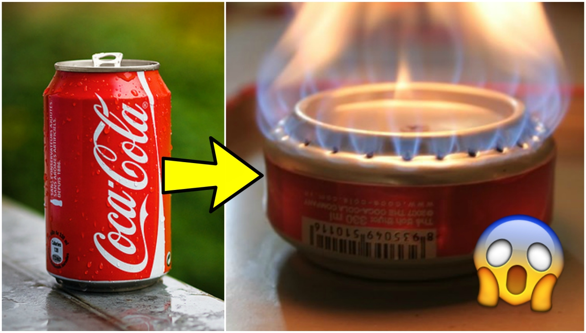 Kitchen hack how to turn a coke can into a stove for Coke can heater