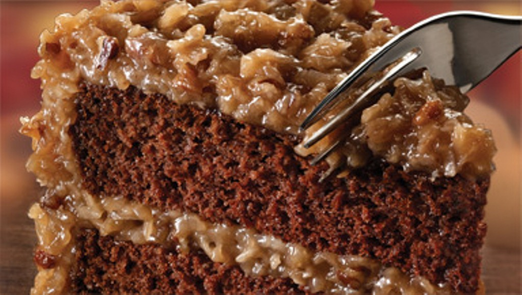 German Chocolate Cake With Caramel Frosting